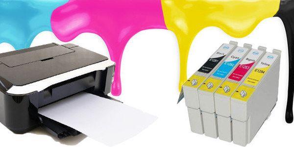 Sada 4ks kompatibilních náplní pro tiskárny EPSON