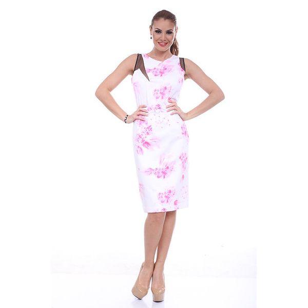 Dámské šaty s růžovým potiskem Ines