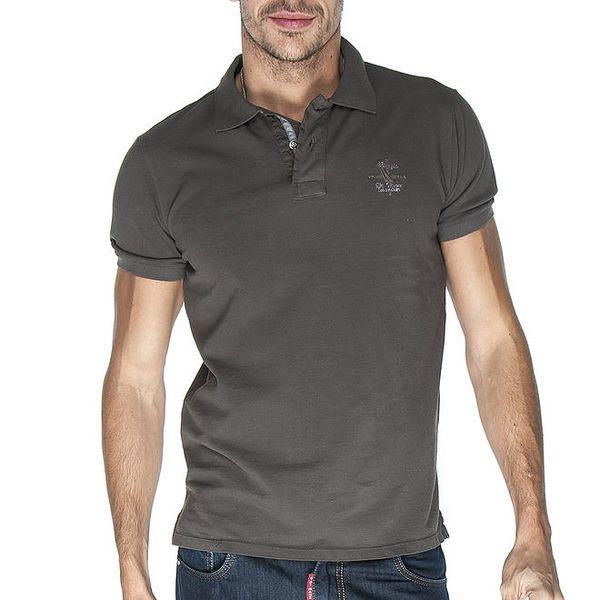 Pánské šedé polo tričko Giorgio Di Mare