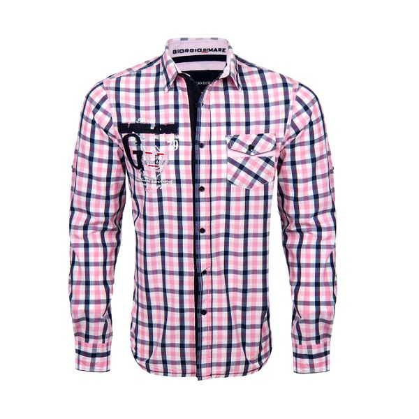 Pánská košile s růžovými kostičkami Giorgio di Mare