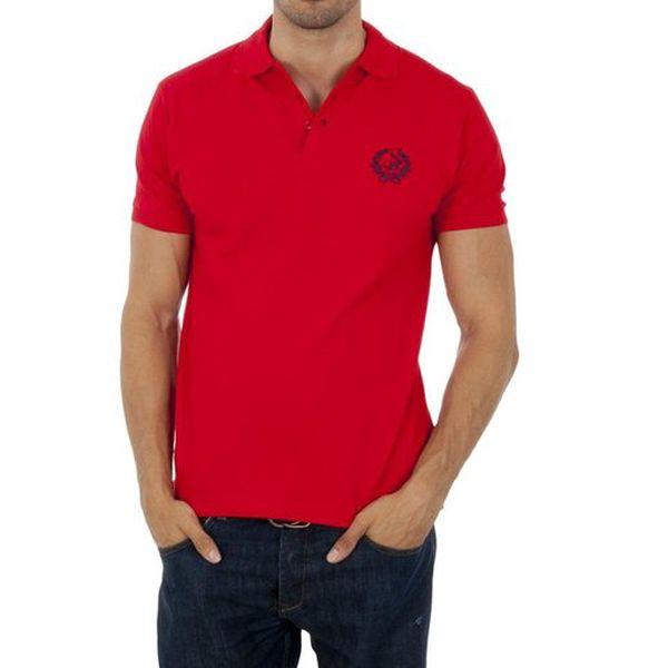 Pánské červené polo Polo Club s výšivkou