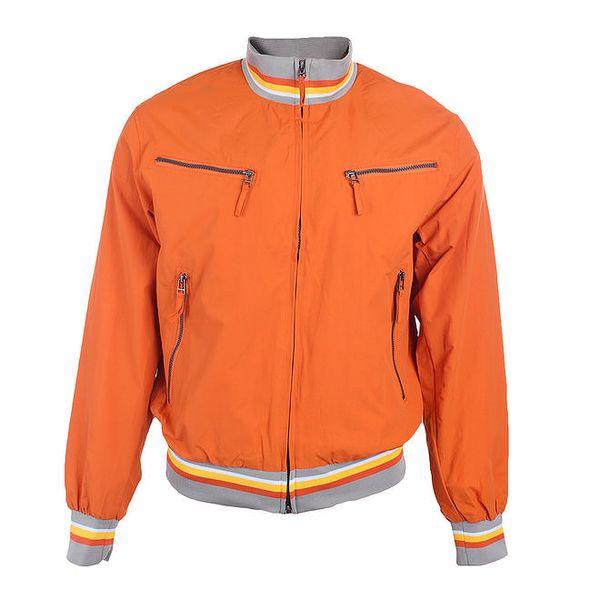 Pánská oranžová bunda s náprsními kapsami Timeout