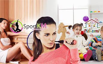 2hodinový relax balíček pro 2 osoby s hlídáním dětí od 349 Kč ve SportKM! Zahrajte si SQUASH, badminton nebo ping-pong a odpočiňte si ve VÍŘIVCE nebo infrasauně! Věnujte čas sami sobě a děti nechte vyřádit se v dětském centru Pidi Země!