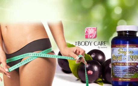 Super Acai Berry 1200 - nejsilnější extrakt na trhu se slevou 75%! Dejte přednost originálu - 60 kapslí nyní za bezkonkurenční cenu 199 Kč! Vhodný pro úpravu metabolismu, odbourávání tuků i zlepšení krevního oběhu!