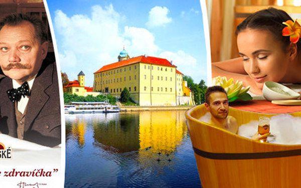 Luxusní dva až pět dní rozmazlovaní a luxusu ve stylu Postřižin v lázeňských Poděbradech s pivní nebo čokoládovou koupelí