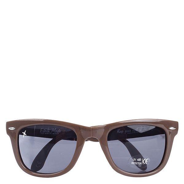 Hnědé sluneční brýle Wize & Ope