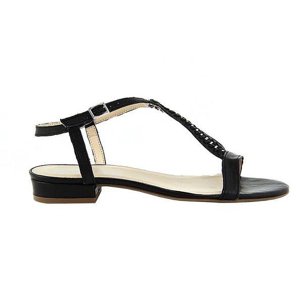 Dámské kožené černé sandálky Eye