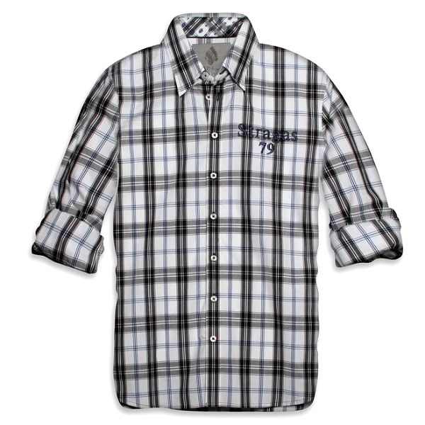 Pánská černo-bílá kostkovaná košile Paul Stragas