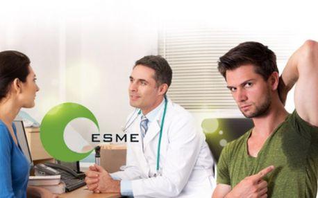 ODSTRANĚNÍ NADMĚRNÉHO POCENÍ z ČELA nebo OBOU PODPAŽÍ plastickým chirurgem doc. MUDr. Václavem Smrčkou, CSc. ve zdravotnickém zařízení ESME již od 3499 Kč! Léto je tady - zbavte se nepříjmného pachu z pocení!