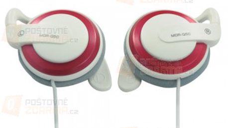 Stereo sluchátka Earhook 3,5mm - červenobílá a poštovné ZDARMA! - 20700330