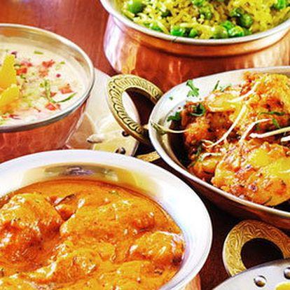 5chodové indické degu menu pro dva včetně nápojů