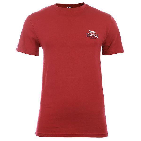 Pánské červené tričko s krátkým rukávem Lonsdale