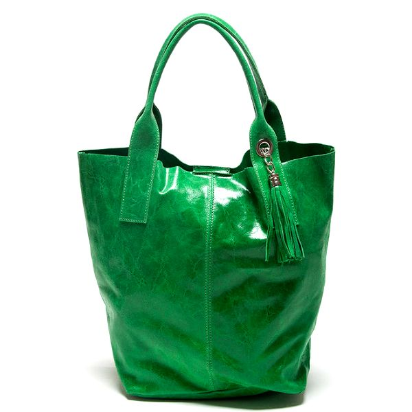 Dámská zelená kabelka se dvěma uchy Mangotti