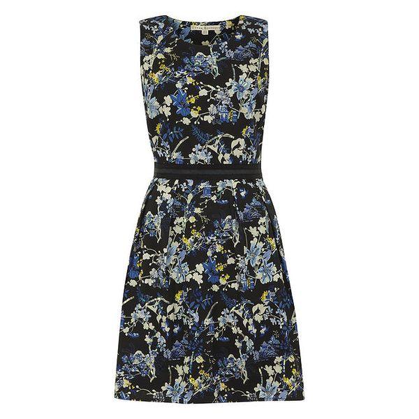 Dámské černé šaty s květinami Uttam Boutique