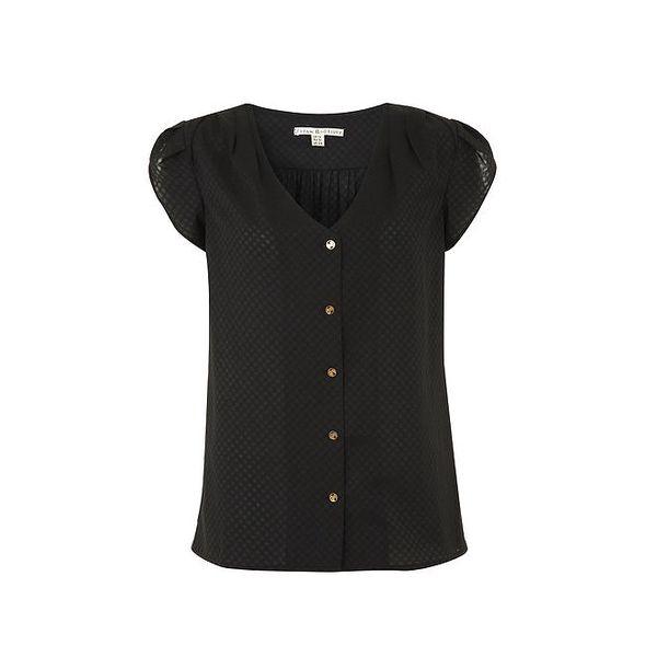 Dámská černá halenka s krátkými rukávy Uttam Boutique