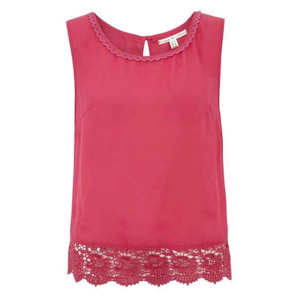 Dámský růžový top s krajkou Uttam Boutique
