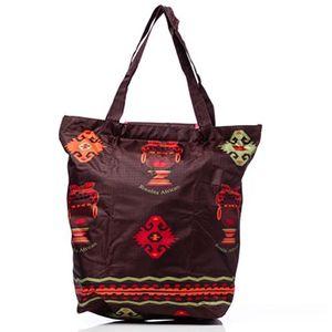 Dámská hnědá nákupní taška s africkým motivem Rosalita McGee
