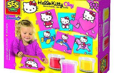 SES 14408 - Keramická modelína s podložkami Hello Kitty