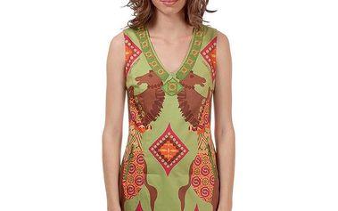 Dámské zelené šaty s koníky Rosalita McGee