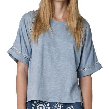 Dámské modré tričko s krátkým rukávem Yhoss