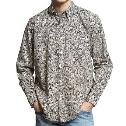 Pánská vzorovaná košile s dlouhým rukávem Yhoss
