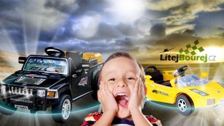 Splňte dětem jejich sen - řídit jako dospělí! Pořiďte jim autíčko na elektrický pohon a zabavíte je na dlouhé hodiny! Čtyřkanálové elektrické autíčko, které můžete ovládat i vy pomocí dálkového ovládání již od 999 Kč!