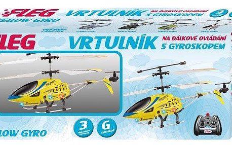 FLEG tříkánálový vrtulník s GYROSKOPEM létá nahoru/dolů, dopředu/dozadu, otáčení kolem vlastní osy