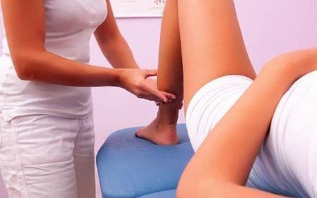 Hodinová manuální lymfatická masáž celých nohou, v...