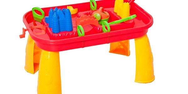 Woody 91601 - Plastový hrací stůl - skládací, na zahradu, na pískoviště, k vodě