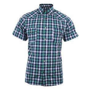 Pánská zeleně kostkovaná košile Authority