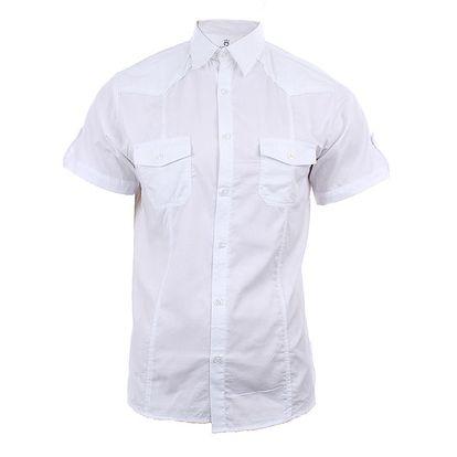 Pánská bílá košile s krátkým rukávem Authority