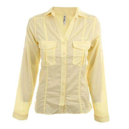Dámská žlutá košile s dlouhým rukávem Authority