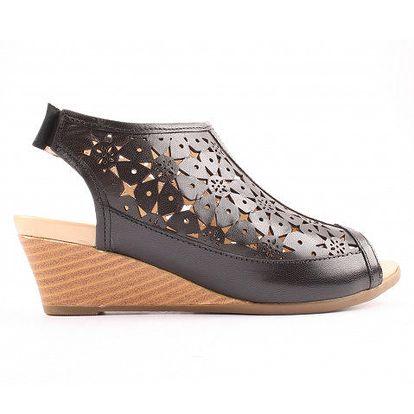 Dámské černé perforované sandálky Bel Canto