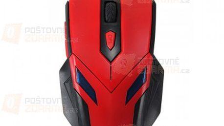 Optická drátová herní myš - červená barva a poštovné ZDARMA! - 21111946