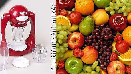 Multifunkční mixér se slevou 54%!!! Fantastický pomocník na přípravu a výrobu pravého smoothie, 100% ovocných a zeleninových šťáv a pyré. Lahodné drinky připravíte jednoduše během pár vteřin.