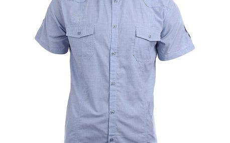 Pánská světle modrá košile s krátkým rukávem Authority