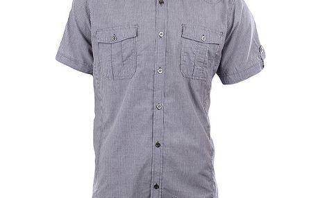 Pánská šedá košile s proužky Authority