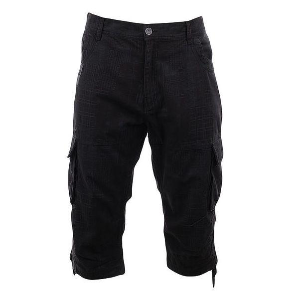 Pánské tmavé potištěné 3/4 kalhoty Authority