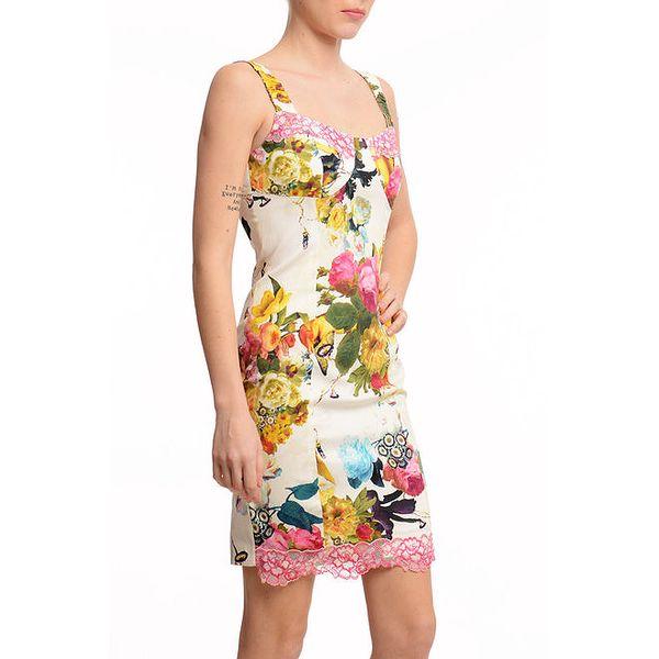 Dámské krátké pouzdrové šaty s potiskem Butik 7279