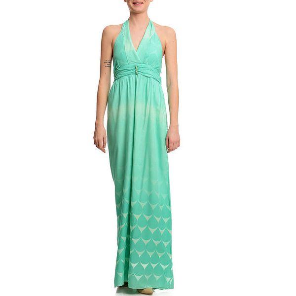 Dámské dlouhé zelené šaty Butik 7279