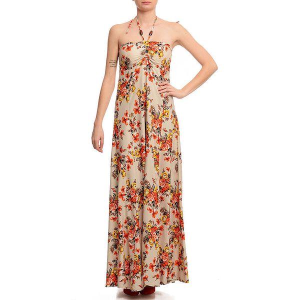 Dámské barevné šaty s potiskem Butik 7279