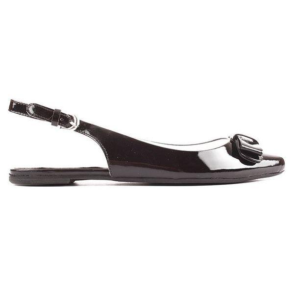 Dámské černé boty s otevřenou patou Elle