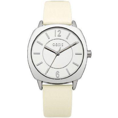 Dámské hodinky s béžovým páskem Oasis