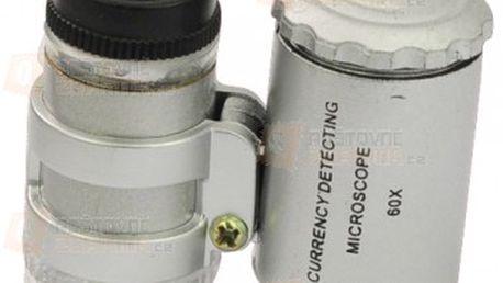 Kapesní mikroskop s LED osvětlením a poštovné ZDARMA s dodáním do 3 dnů! - 23011714