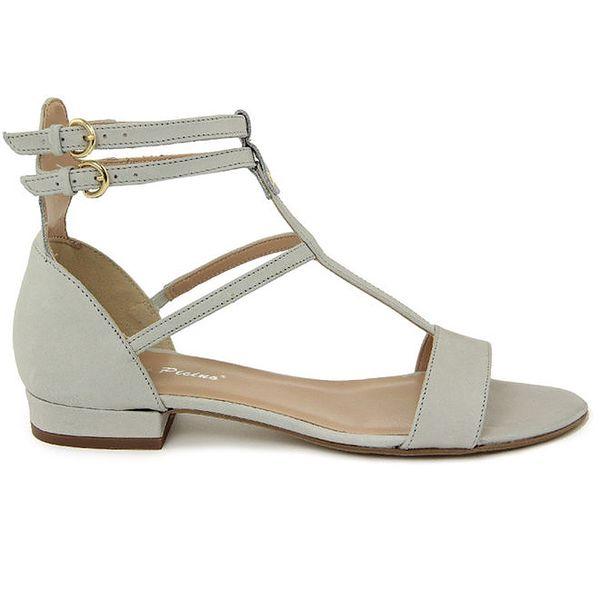 Dámské světlé kožené gladiátorské sandálky Giorgio Picino