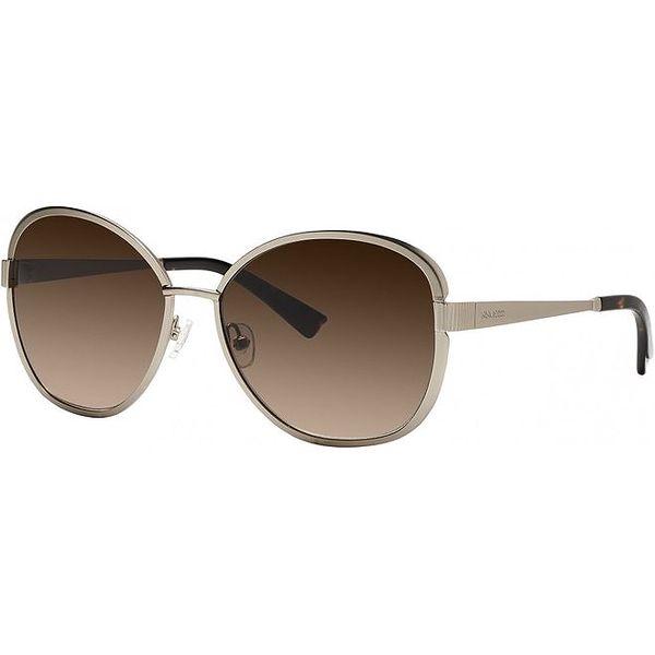 Dámské zlaté sluneční brýle s hnědými skly Nina Ricci