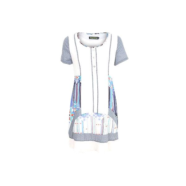 Dámské modro-bílé vzorované šaty Sugar Crisp