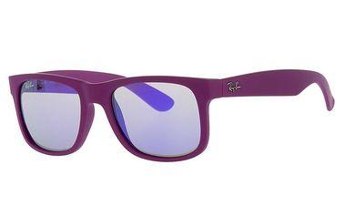 Dámské fialové plastové sluneční brýle Ray-Ban