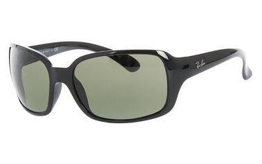 Dámské černé sluneční brýle se zelenými skly Ray-Ban