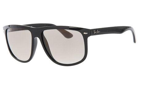 Pánské černé sluneční brýle s lehkým zrcadlovým efektem Ray-Ban